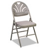 Cosco Bridgeport™ Fanfare™ Fabric Padded Seat Deluxe Molded Back Folding Chair CSC 36875KNT4