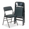 Cosco Bridgeport™ Deluxe Fabric Padded Seat and Back Folding Chair CSC 36885CVB4