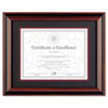 Dax: DAX® Two-Tone Rosewood/Black Finish Document Frame