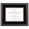 Dax DAX® Antique Brushed Charcoal Wood Finish Document Frame DAX N15790ST