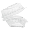 plastic containers: Dart® Showtime® Clear Hinged Containers