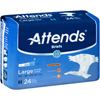 Attends Incontinent Brief Attends Tab Closure Large Disposable Moderate Absorbency MON 30503101