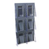 literature racks: deflect-o® Stand Tall® Multi-Pocket Wall-Mount Literature Systems
