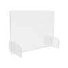 Deflect-O deflecto Counter Top Barrier with Full Shield and Feet DEF PBCTA3123B