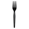 cutlery and servingware: Heavyweight Black Plastic Cutlery