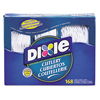 Dixie Dixie® Combo Pack, Tray w/ White Plastic Utensils DXE CM168
