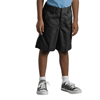 Dickies Boys Elastic Back Plain-Front Shorts DKI 54362-BK-4-RG
