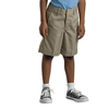 Dickies Boys Elastic Back Plain-Front Shorts DKI 54362-KH-5-RG
