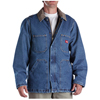 Dickies Mens Zip-Front Denim Chore Coat DKI 77293-SNB-L