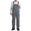 workwear overalls: Dickies - Men's Hickory Stripe Zip-Fly Bib Overalls
