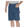 "workwear mens shorts: Dickies - Men's 11"" Relaxed-Fit Denim Carpenter Shorts"