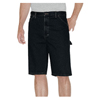 "workwear shorts: Dickies - Men's 11"" Relaxed-Fit Denim Carpenter Shorts"