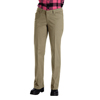 womens pants: Dickies - Women's Relaxed-Fit Straight-Leg Twill Pants
