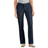 workwear plain front pants: Dickies - Women's Premium Curvy Flat-Front Pants