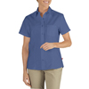 workwear womens shirts: Dickies - Women's Short Sleeve Industrial Oxford Shirts