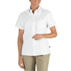 workwear xs: Dickies - Women's Short Sleeve Industrial Oxford Shirts