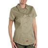 womens shirts: Dickies - Women's Short Sleeve Twill Work Shirts