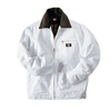mens jackets: Dickies - Men's White Flannel Lined Painter's Jackets
