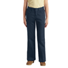workwear plain front pants: Dickies - Juniors Stretch Flare-Bottom Pants