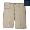 workwear womens shorts: Dickies - Girls Adjustable Waistband L-Pocket Shorts