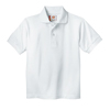 Dickies Kids Short Sleeve Pique Polo Shirts DKI KS234-WH-2TD