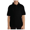 Dickies Kids Short Sleeve Pique Polo Shirts DKI KS4552-BK-L