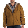 workwear jackets: Dickies - Men's Sanded Duck Sherpa Lined Hooded Jacket