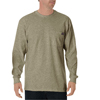 workwear shirts long sleeve: Dickies - Men's Long Sleeve Heavyweight Crew Neck Tee Shirts