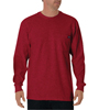 workwear shirts long sleeve: Dickies - Men's Long Sleeve Heavyweight Crew Neck Tee Shirts