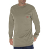 Dickies FR Mens Flame Resistant Long Sleeve Tee Shirt DKI DFL511-KH-2X