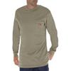 flame resistant: Dickies FR - Men's Flame Resistant Long Sleeve Tee Shirt
