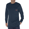 Dickies FR Mens Flame Resistant Long Sleeve Tee Shirt DKI DFL511-NV-2X