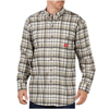 flame resistant: Dickies FR - Men's Flame Resistant Long Sleeve Plaid Shirt