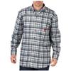 flame resistant: Dickies FR - Men's Flame Resistant Long Sleeve Plaid Shirt