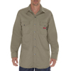 workwear shirts long sleeve: Dickies FR - Men's Flame Resistant Twill Snap-Front Shirt