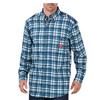 workwear shirts long sleeve: Dickies FR - Men's Flame Resistant Long Sleeve Plaid Shirt