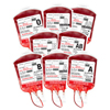SimLabSolutions Simulated Blood Bag Variety Pack For Simulation, 8/PK DIA IV058648