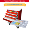 simlabsolutions or dia medical: SimLabSolutions - Loaded 6 Drawer Signature Emergency Crash Cart&Trade; For Simulation