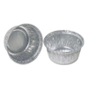Durable Office Products Aluminum Round Containers, 3 1/4