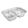 Durable Office Products Durable Packaging 3-Compartment Oblong Aluminum Foil Container with Board Lid DPK 2103050X
