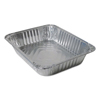 Durable Office Products Aluminum Steam Table Pans, 120 oz, Silver, 100/Carton DPK4200100