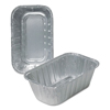 Ring Panel Link Filters Economy: Aluminum Loaf Pans, 3 3/4w x 2d x 6 1/8h, Silver, 500/Carton