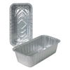 Ring Panel Link Filters Economy: Aluminum Loaf Pans, 4 9/16w x 2 3/8d x 8 11/16h, Silver, 500/Carton
