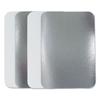 Durable Office Products Flat Lids, 5w x d x h, Silver, 500/Carton DPK L245500