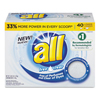 cleaning chemicals, brushes, hand wipers, sponges, squeegees: All® Concentrated Powder Detergent