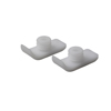 Drive Medical Walker Ski Glides, White, 1 Pair 10110