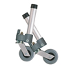 Drive Medical Locking Swivel Walker Wheels with Two Sets of Rear Glides DRV 10113