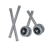 Drive Medical Heavy Duty Bariatric Walker Wheels, 5 10118CSV