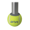Drive Medical Walker Rear Tennis Ball Glides with Tennis Ball Can, 1 Pair 10119