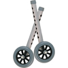 Drive Medical Walker Wheels with Two Sets of Rear Glides, for Use with Universal Walker, 5, Gray, 1 Pair 10128